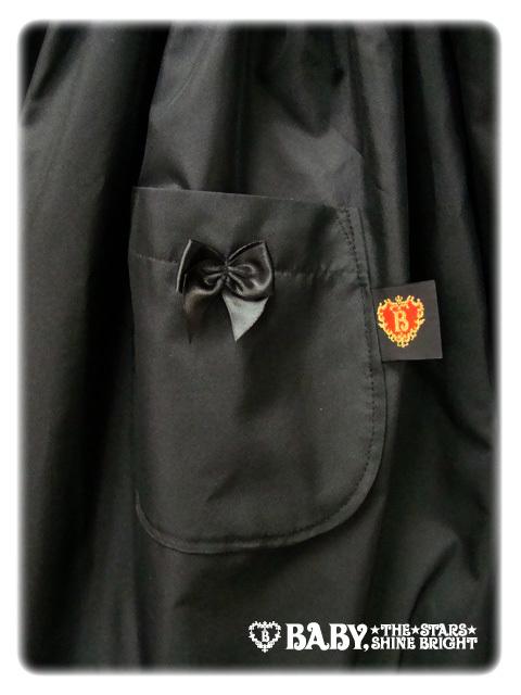 Babyribbonraincoat black pocket