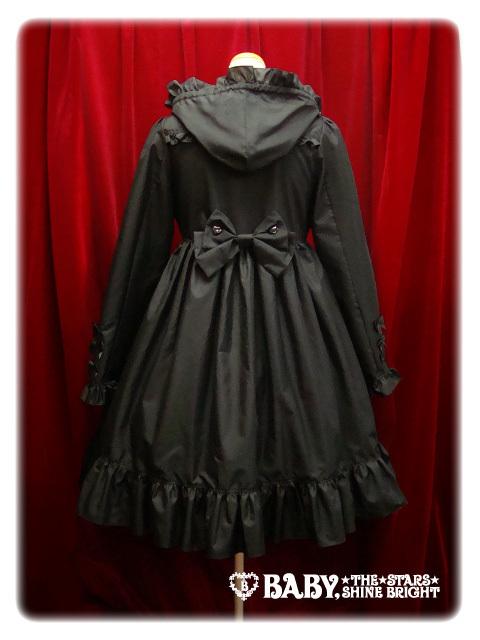Babyribbonraincoat black back