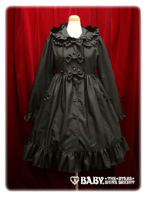 Babyribbonraincoat black