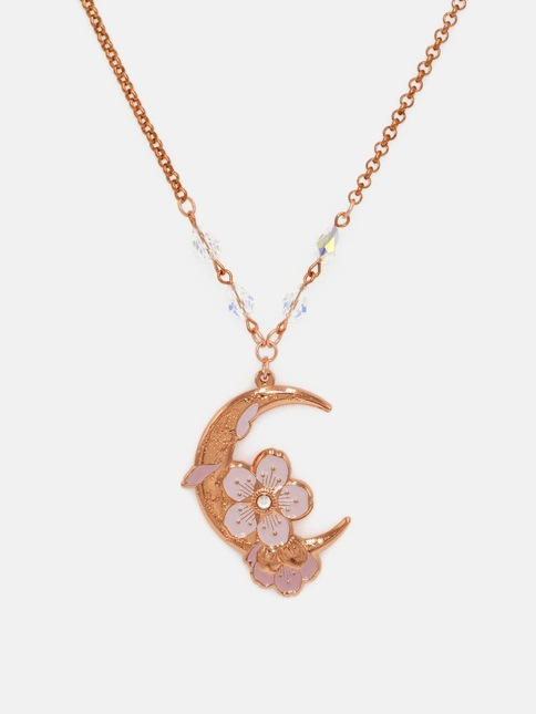 Moonblossoms copperpink necklace