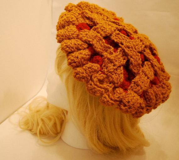 bdbe15626f77 FREE US SHIP - Crochet Cherry Pie Beret - Hats - Lace Market: Lolita ...