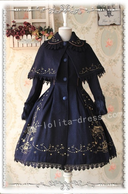 Infanta merry go round gold emboridery lolita jacket and cape inf 262 5