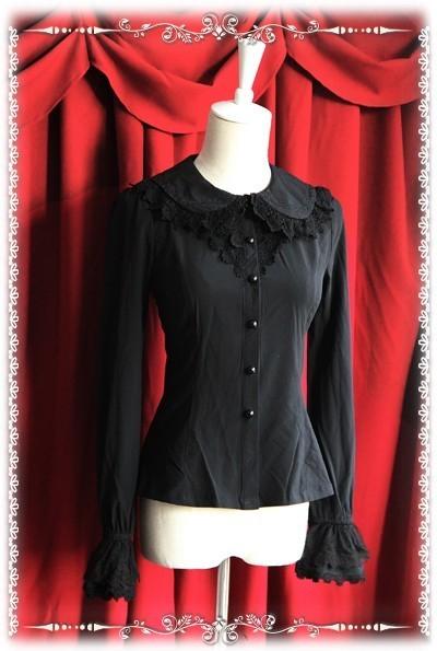 Infanta elastic chiffon lolita blouse 3 colors inf 158 10