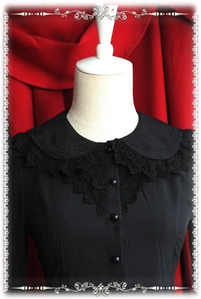 Infanta elastic chiffon lolita blouse 3 colors inf 158 12