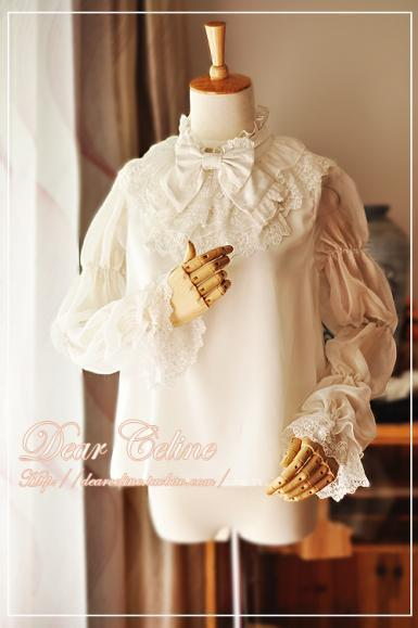 473799dd4e7a White Dear Celine Invented Wings Knight Blouse (M) - Blouses - Lace ...