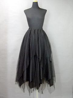 Softtullelongskirt black 0
