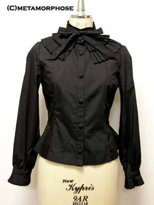 Pleatedblouse black