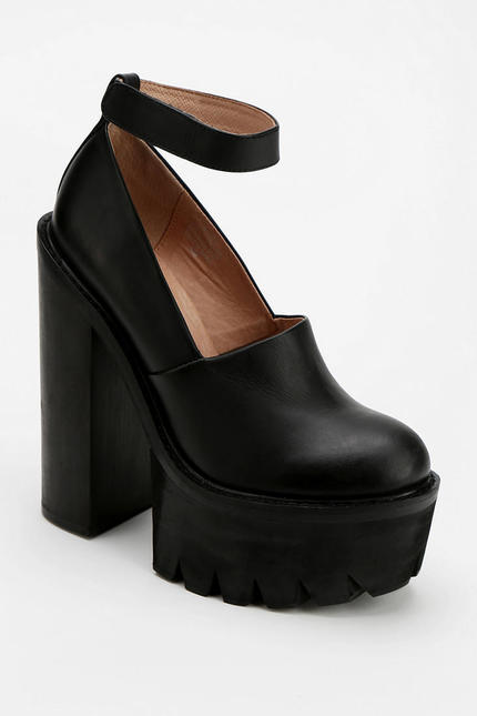 Urban outfitters black jeffrey campbell scully extreme tread platform heel product 1 13941446 310321992