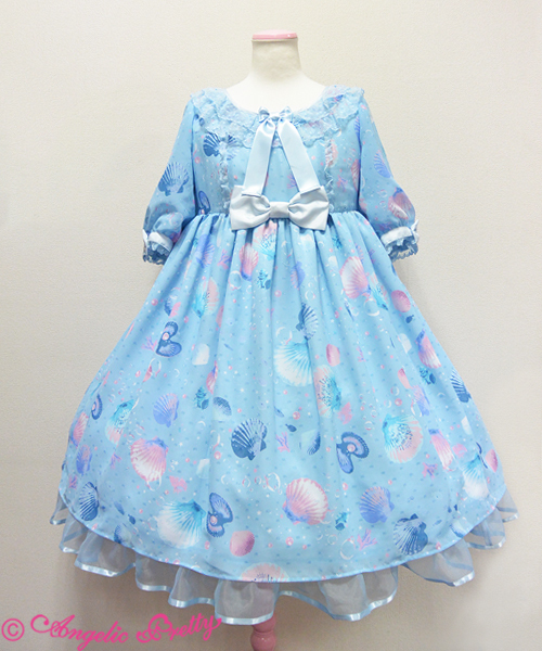 Angelic Pretty Dream Marine Op In Sax Dresses Lace