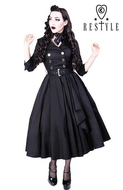 Eng pl r 22 coat dress pin up 50 black elegant retro style  1335 3