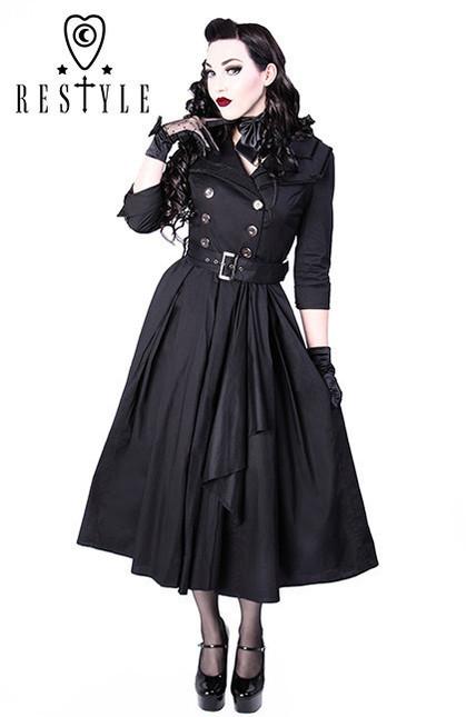 Eng pl r 22 coat dress pin up 50 black elegant retro style  1335 1