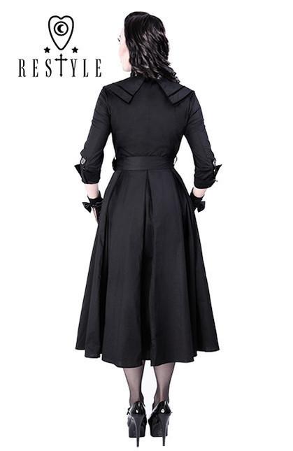 Eng pl r 22 coat dress pin up 50 black elegant retro style  1335 5