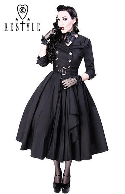 Eng pl r 22 coat dress pin up 50 black elegant retro style  1335 6