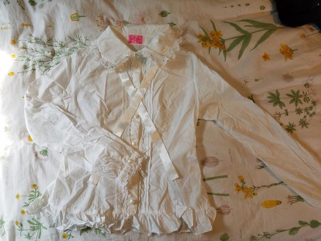 Reserved Angelic Pretty White Blouse Us Shipping Included