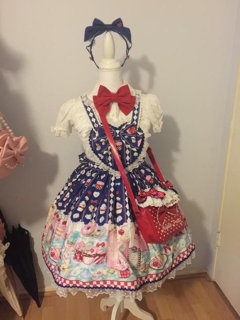 15dd814da4fe Angelic Pretty Diner Doll - SET OF 3 - NAVY - Dresses - Lace Market ...