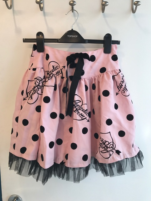Angelic Pretty Dolly Dot Skirt Pink New Without Tags