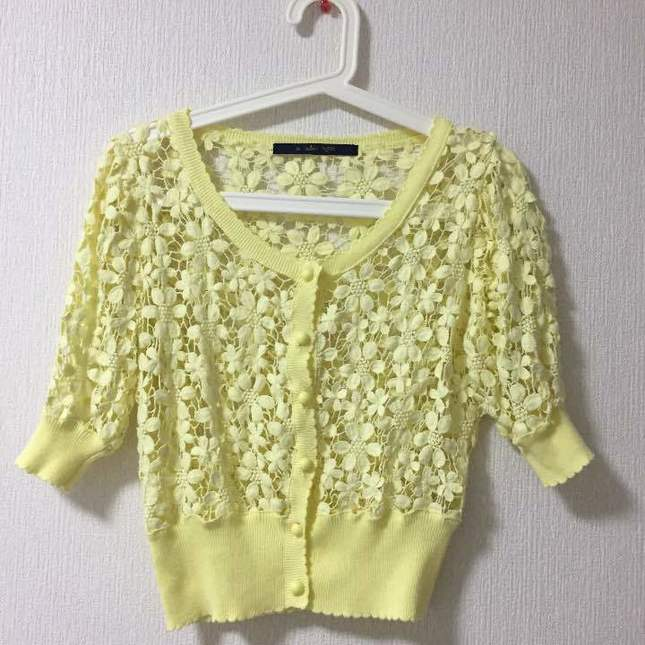 Fint 20floral 20lace 20cardigan 20in 20yellow
