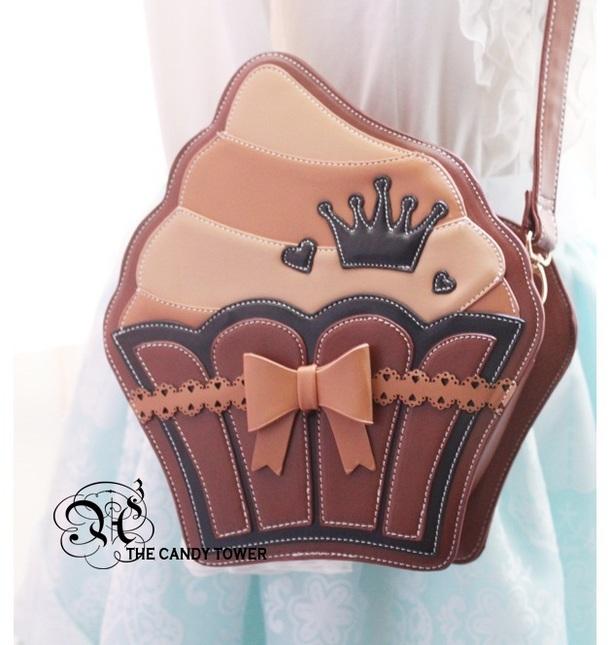 A3 lolita bag soft cup cake style bag messenger bag brown
