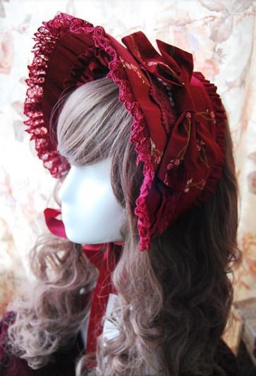 Infanta snow white cotton lolita bonnet inf 134 1