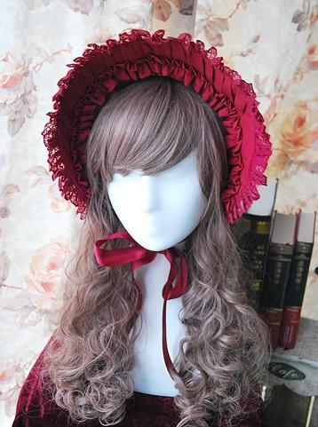 Infanta snow white cotton lolita bonnet inf 134 3