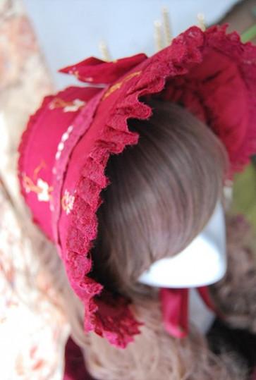 Infanta snow white cotton lolita bonnet inf 134 2