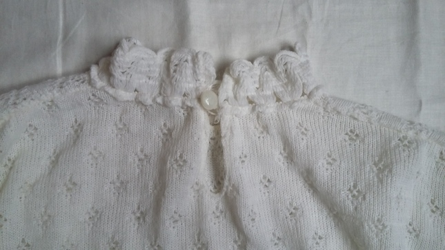 Vintage 20white 20knit 20high 20collar 20jumper 20top 20(6)