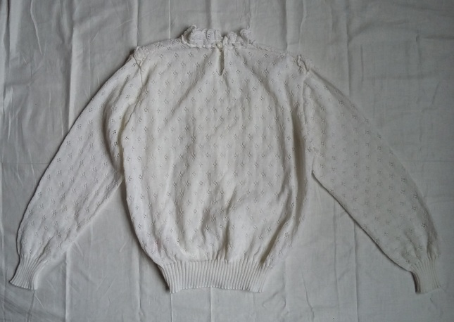 Vintage 20white 20knit 20high 20collar 20jumper 20top 20(7)