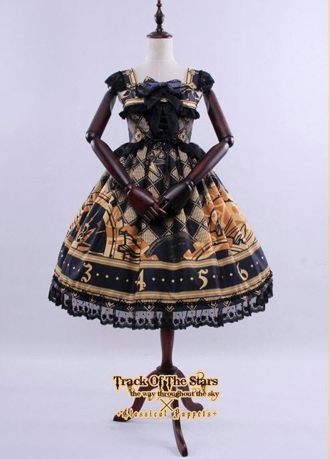 Classical puppets track of the stars lolita jumper dress cp 155 6