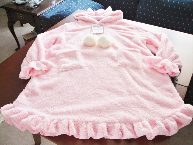 a1b9e5ca3 Youzi Plus Size Friendly Pink Cat Ear Fuzzy Nightgown NWT ...