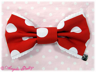 Ap 20french 20dot 20barrette 20in 20red 20x 20white