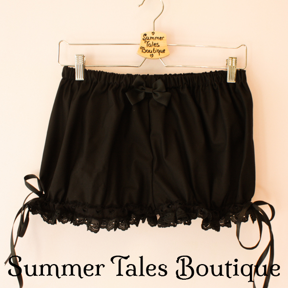 Black short bloomers