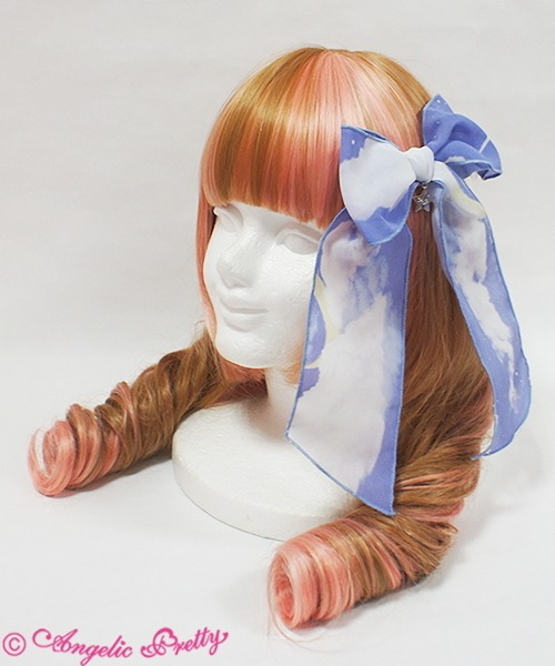Misty sky ribbon clip lv