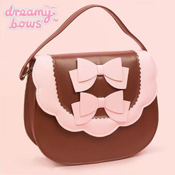 Doublebow scallop bag brown main 350