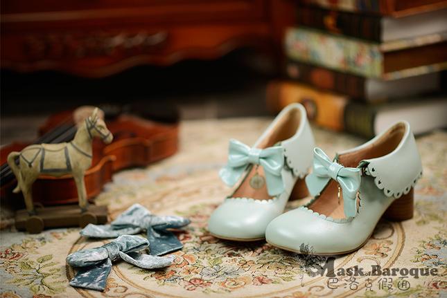 Shoes mint pumps maskbaroque classic sweet