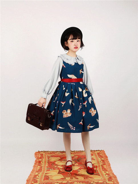 Mushroom sweet lolita printed jsk dress 15