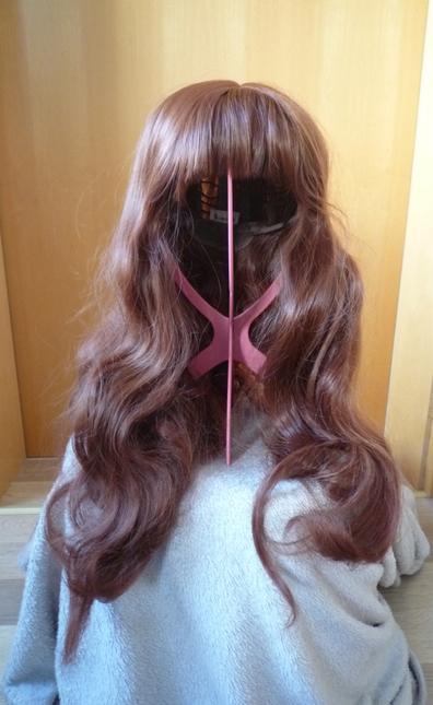 Wig maroon