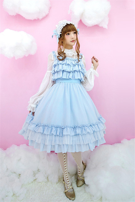 Little dipper tsarsya pure cotton chiffon classic lolita jsk dress mid length long version ld 89 3 1