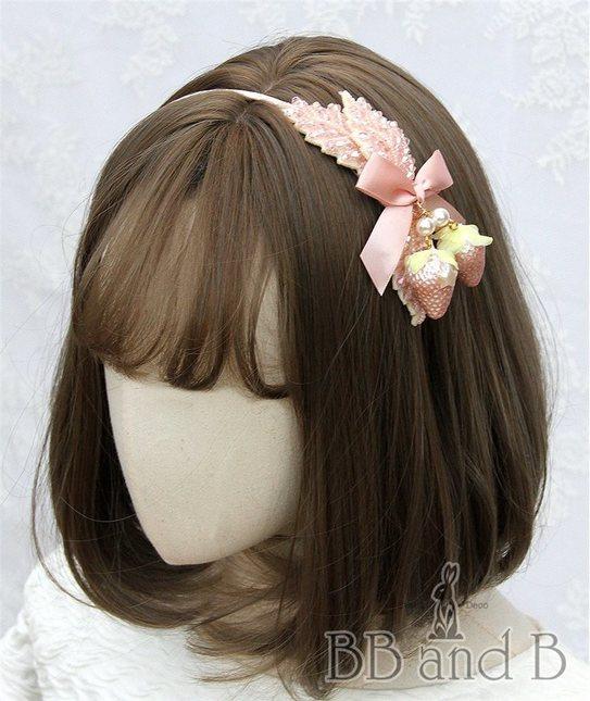 Pink beaded headband with pearl finish headband 20(1)