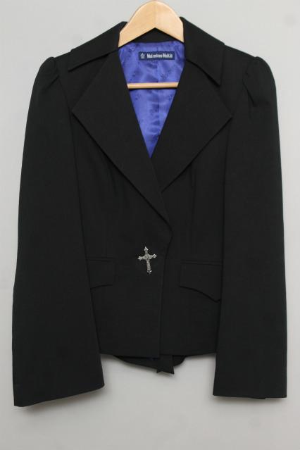 Moi Meme Moitie black cross button bat jacket EGA size 2 ...