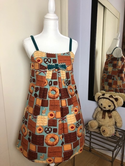 Etc 20biscuit 20and 20chocolate 20print 20sleeveless 20op