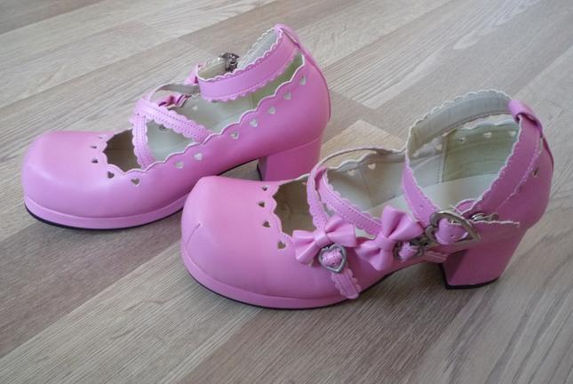 Pink shoes back