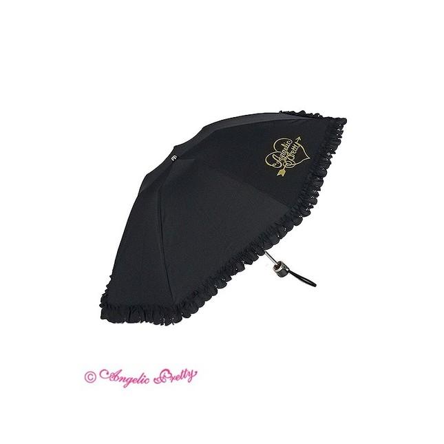 Lovely heart logo folding umbrella