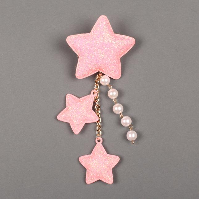 Lolitabutiken 2way star clip pink1