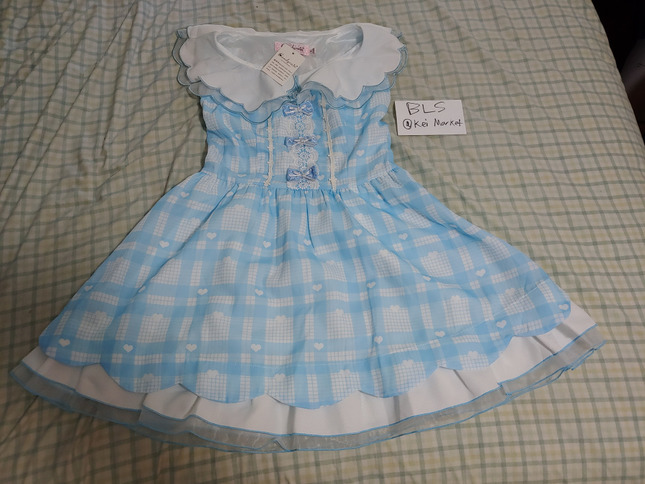Candy rain blue sleeveless dress