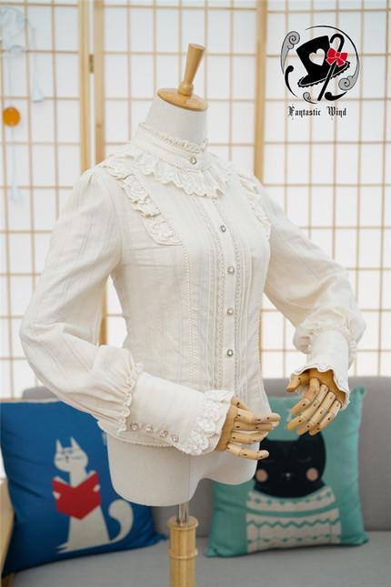 Rabbit teeth goatherd maiden vintage cotton lolita blouse 6 1