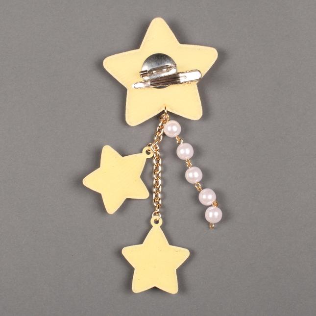 Lolitabutiken 2way star clip gold2