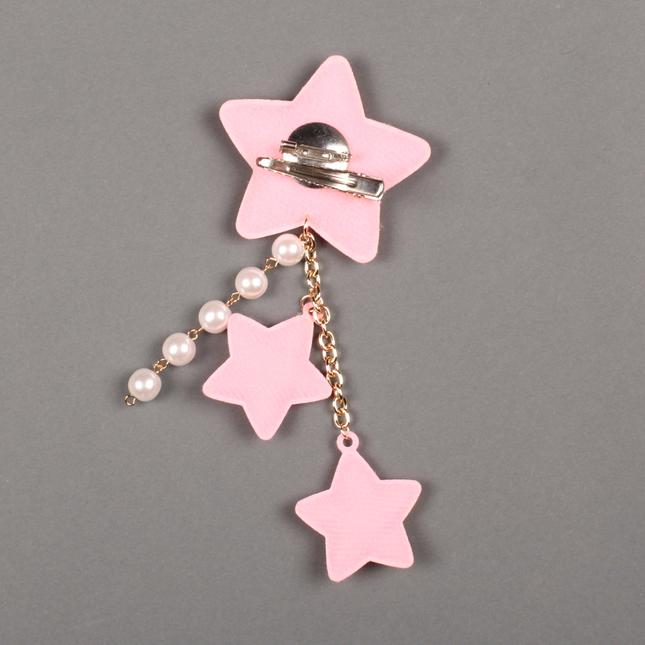 Lolitabutiken 2way star clip pink2