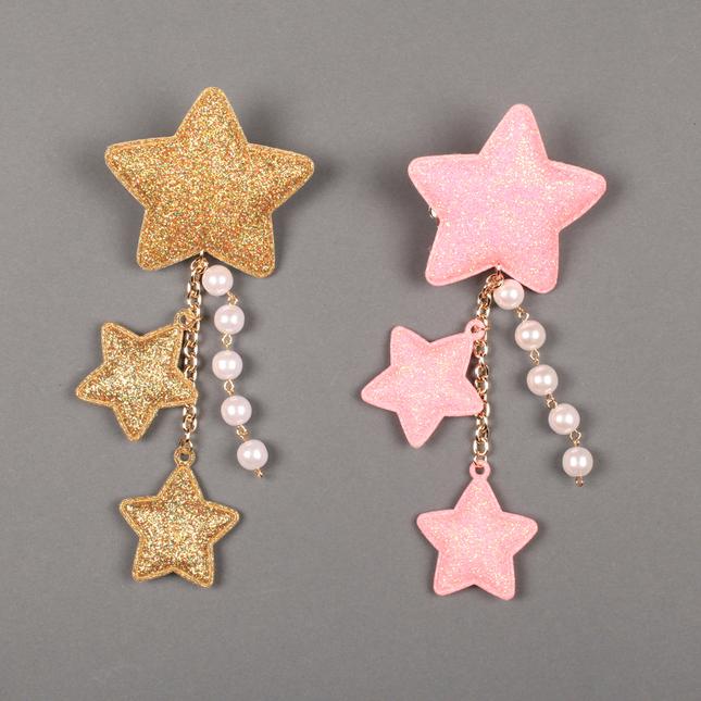 Lolitabutiken 2way star clip pink gold