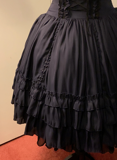 Blue dress closeup 1