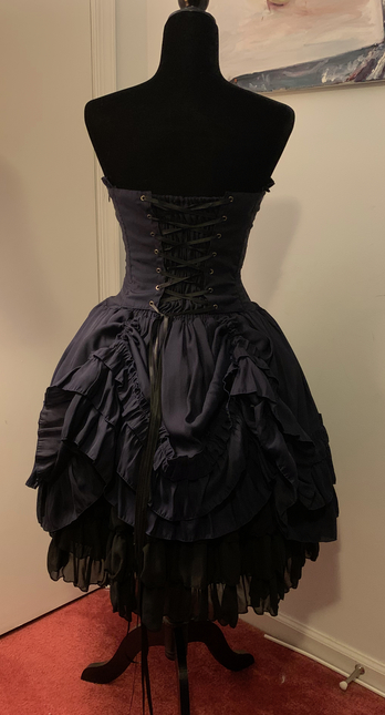 Blue dress back 2